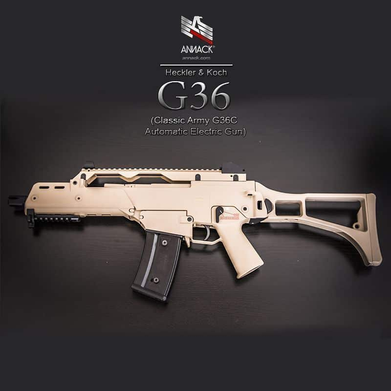 Review del fusil de airsoft golden eagle g36 for Koch transporte