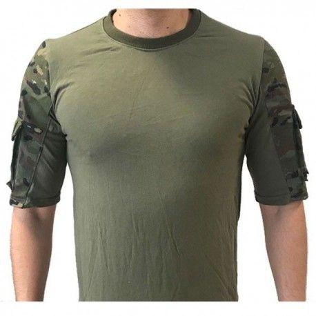 Camiseta Táctica Urbana - Boscoso Pixelado