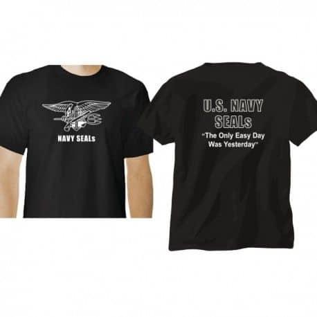 Camiseta de manga corta Navy Seals serigrafia blanca