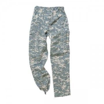 M65, style network camo military pants.