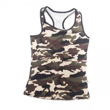 Camiseta de tirantes para mujer con espaldera