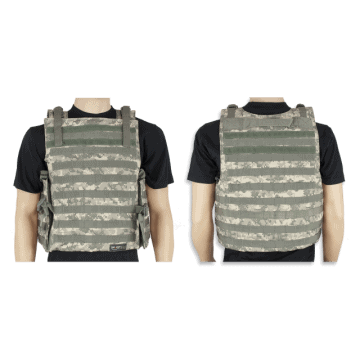Tactical vest Barbaric P-3, black color. Molle system
