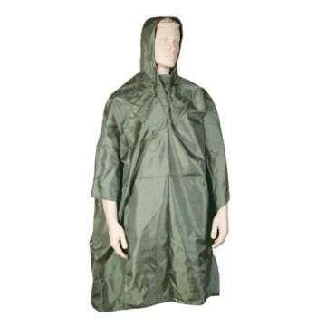 Waterproof poncho. Green