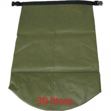 Bolsa estanca para ropa 30L verde