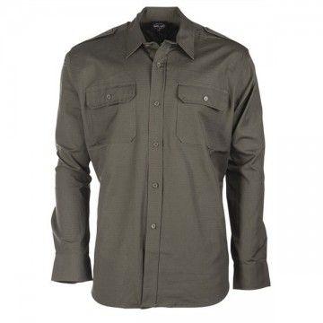 Camisa Cuadrille en verde de MILTEC