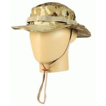 Chambergo Bonnie militar en árido pixelado