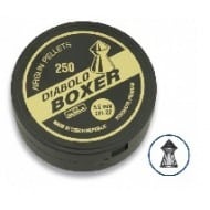 Tin of 250 pellets caliber 5.5 mm. DIABLO brand, model BOXER