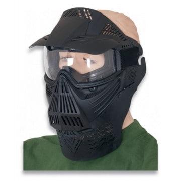 Máscara de Airsoft fabricada en PVC. De la marca Barbaric. Black