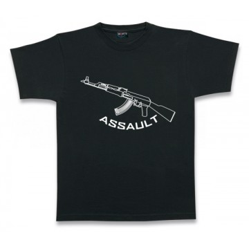 Camiseta Barbaric, modelo Commando. Black