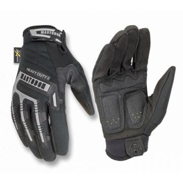 Guantes Mastodon, modelo Heavy Duty II con protección en dedos y nudillos. Black.