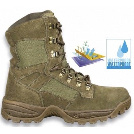 "Botas de trekking Force 9"" Waterproof Coyote Army"