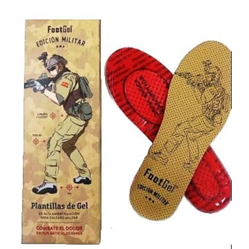 Plantillas de Gel para calzado mlitar de FOOTGEL