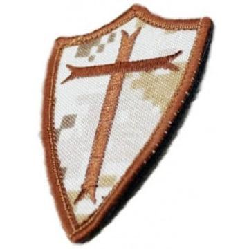 Parche Cruz Caballero Templarios - velcro