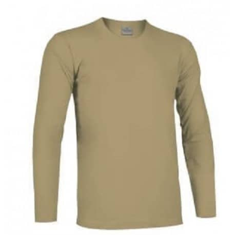 Camiseta táctica de manga larga en color TAN