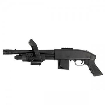 Escopeta de muelle para airsoft, réplica del modelo 590 Chainsaw, de la marca MOSSBERG