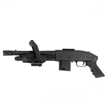 Shotgun spring airsoft replica of the 590 Chainsaw model, MOSSBERG
