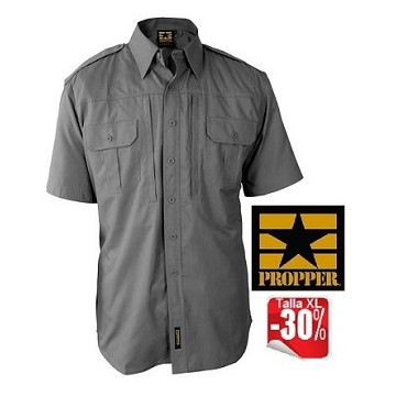 Camisa Short Sleeve en color Gris de Propper.