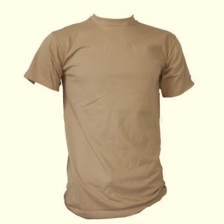 Camiseta manga corta en color TAN