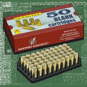 Box of 50 triggers Albainox of the 9 mm caliber