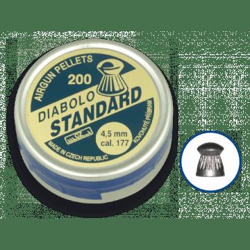 Boîte de 200 pastilles de calibre 4,5 mm. Diable de marque, modèle STANDARD