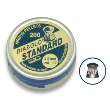 Dose 200 Granulat Kaliber 4,5 mm. Mark Teufel, Standardmodell