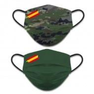 Mascarilla Reversible Nivel 3 - Boscoso Pixelado - Verde