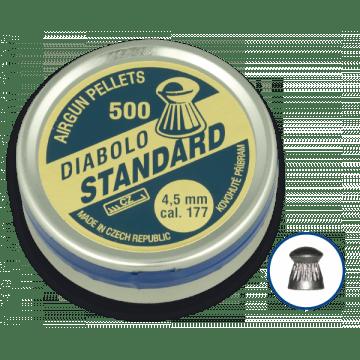 Lata de 500 balines del calibre 4.5 mm. Marca DIABLO, modelo STANDARD