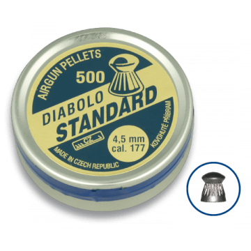 Lata de 500 balines del calibre 4.5 mm. Marca DIABOLO, modelo STANDAR