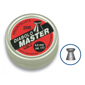 Tin of 200 pellets caliber 4.5 mm. DIABLO brand, model MASTER