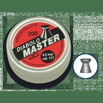 Dose 200 Granulat Kaliber 4,5 mm. DIABLO Marke, Model MASTER