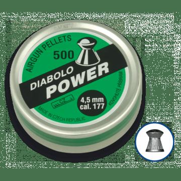 Boîte de 200 pastilles de calibre 4,5 mm. DIABLO marque, modèle, puissance