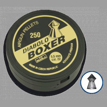 Lata de 200 balines del calibre 4.5 mm. Marca DIABLO, modelo BOXER