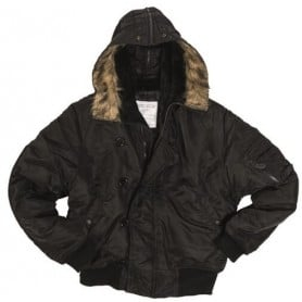 Abrigo N2b short en negro de Miltec