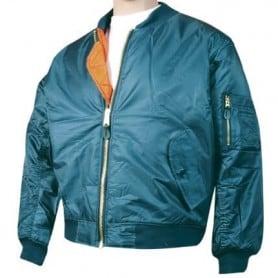 Blue flower-print jacket