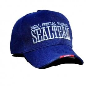 Gorra bordada Seal Team en azul
