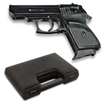 Pistola de detonación, réplica del modelo LADY, de la marca Ekol. Black