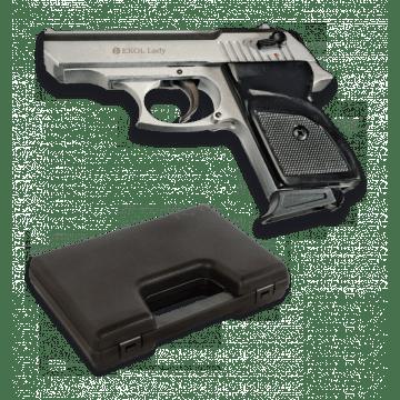 Pistola de detonación, réplica del LADY, de la marca Ekol. Silver