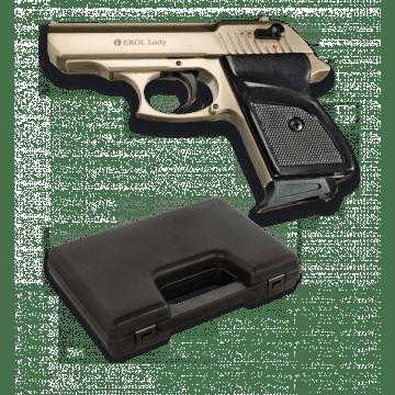 Pistola de detonación, réplica del modelo LADY, de la marca Ekol. Satén