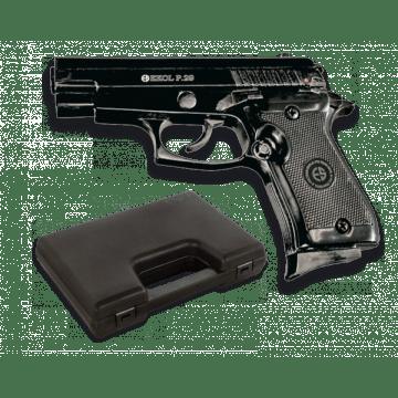 Pistola de detonación, réplica del modelo P 29, de la marca Ekol. Black