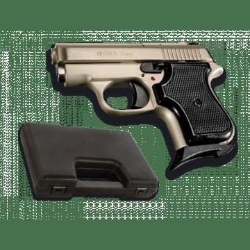 Pistola de detonación, réplica de Tuna, de la marca Ekol. Satén