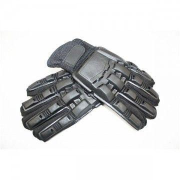 Guantes tácticos para airsoft de color negros con protección completa