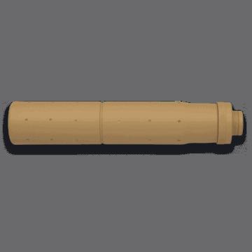 Silenciador fabricado en aluminio, para armas de la serie-M. Marca Golden eagle. Color Coyote