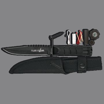 Cuchillo Albainox con kit de supervivencia y brújula