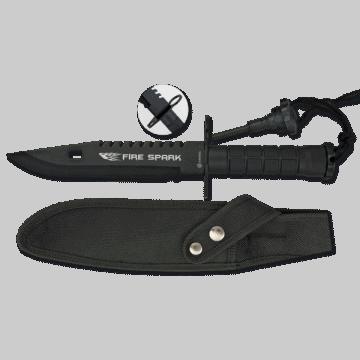 Couteau de survie Albainox, modèle étincelle de feu