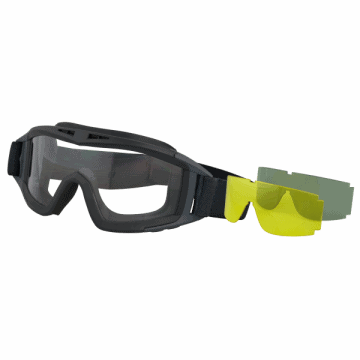 Airsoft goggles ALBAINOX. It includes interchangeable 3Lentes.