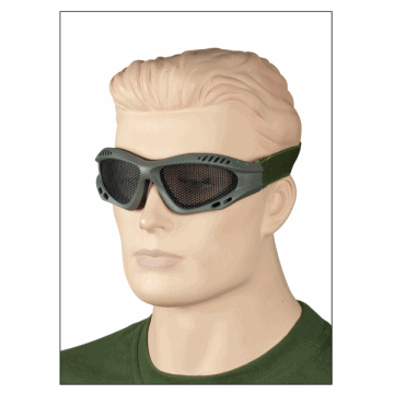 Grille Sunglasses made of PVC. Green.