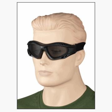 Gafas de rejilla fabricadas en PVC. Black.