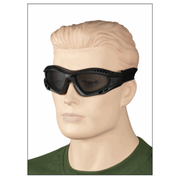 Grille Sunglasses made of PVC. Black.