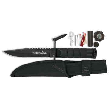 En acier inoxydable avec couteau de survie kit et boussole