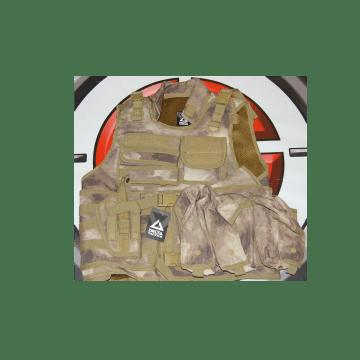 Delta Tactics brand tactical vest. Multicam color